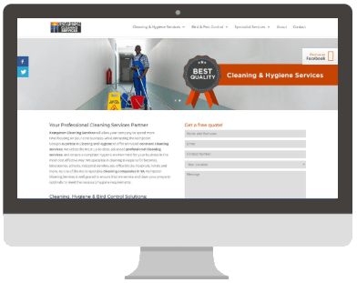 Kempston Cleaning Website